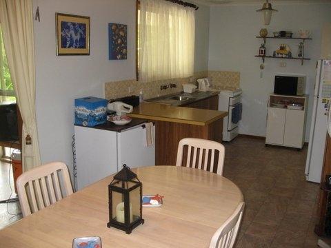 Home exchange in,Australia,CARRICKALINGA,Kitchen - dining area.