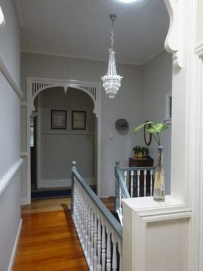 Home exchange in,Australia,WINDSOR,hall & stairs to lower level and garage