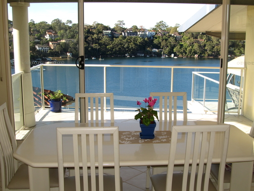 Home exchange in,Australia,GYMEA BAY,DINING AREA HAS ITS OWN SEPARATE BALCONY