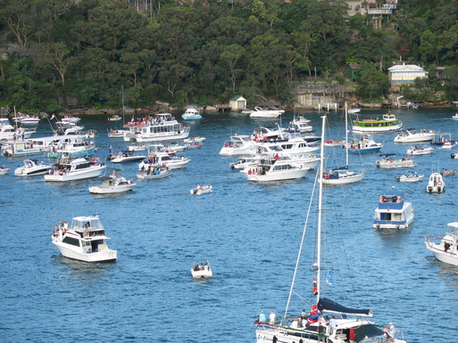 "Home exchange in,Australia,GYMEA BAY,""CAROLS BY CRUISER"" AS SEEN FROM OUR BALCONIES"