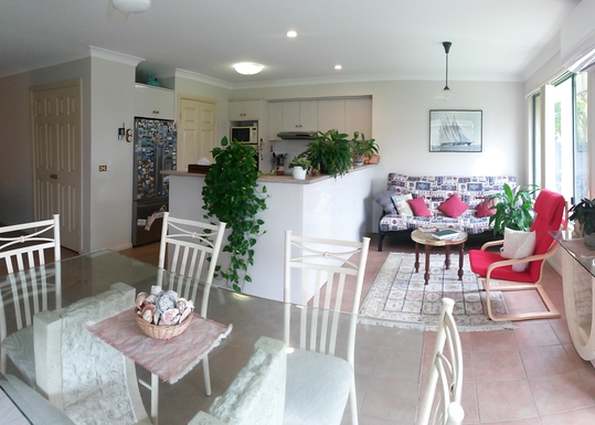 Home exchange in,Australia,HOPE ISLAND,Looking across to kitchen
