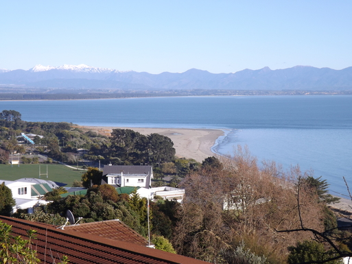 BoligBytte til,New Zealand,Nelson,Tahunanui Beach and Tasman Bay from Port Hills