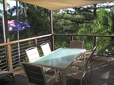 Home exchange in,Australia,Sydney's Northern Beaches,Back Deck