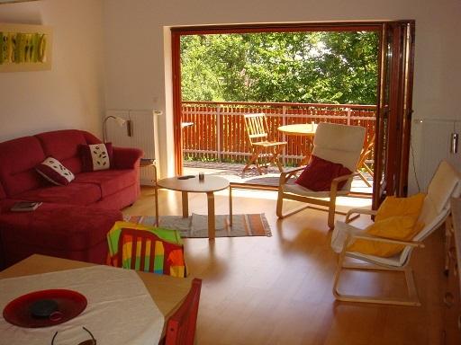 BoligBytte til,Slovenia,Kranjska Gora,Living room & balcony