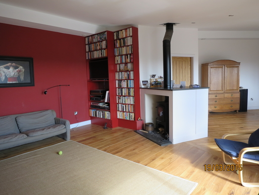 BoligBytte til,United Kingdom,Edinburgh, 30m, SE,Sitting area with wood burning stove