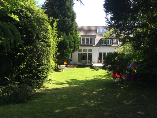 big garden (626 square metres)/house from behind