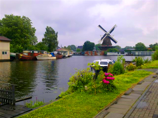 Near our house;The Rembrandt Sloten Windmill