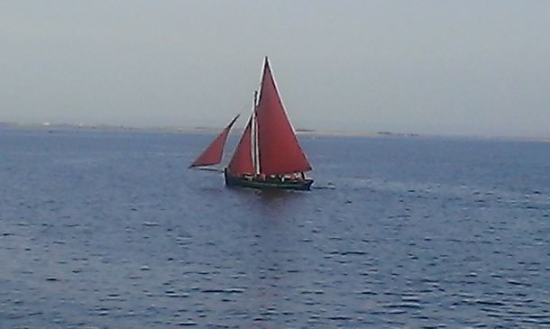 Home exchange in,Ireland,Galway City,Galway Hooker on Galway Bay at Salthill