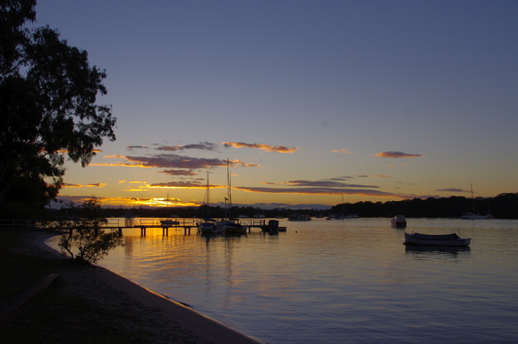 Home exchange in,Australia,Noosaville,Sunset on the river- beautiful every day