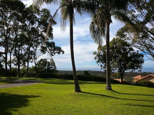 Home exchange in,Australia,Sandy Beach,View north from courtyard.