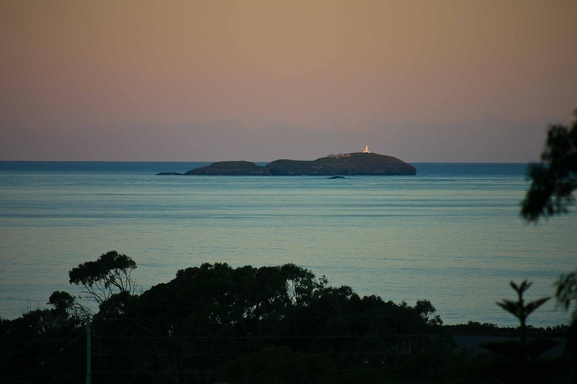Home exchange in,Australia,Sandy Beach,South Solitary Island from house. (Zoom lens.)