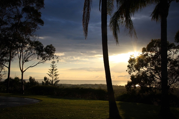 Home exchange in,Australia,Sandy Beach,View from courtyard.