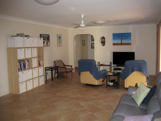 Home exchange in,Australia,BRIDGEMAN DOWNS,Other end of family room - through to 3 bedrooms.