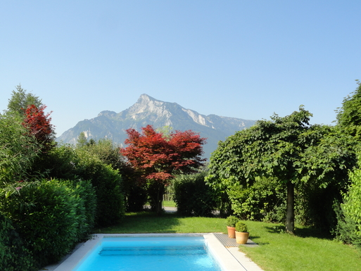Garden - view of Untersperg mountain
