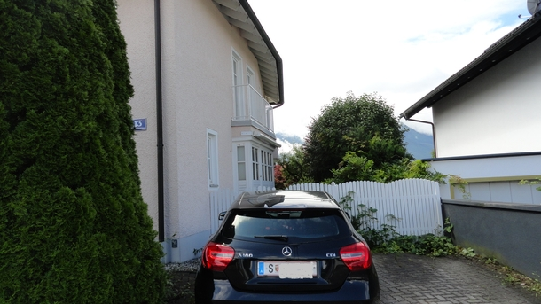 Home exchange in,Austria,Salzburg,In front of house, parking space