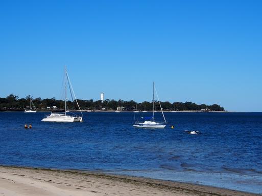 Home exchange in,Australia,Banksia Beach, Bribie Island,Looking towards jetty on Bribie Island