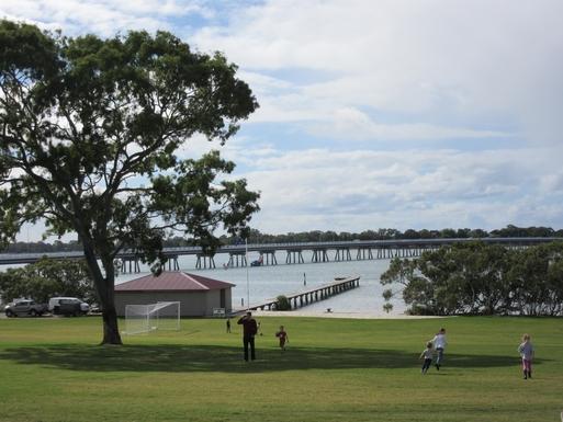 Home exchange in,Australia,Banksia Beach, Bribie Island,View of the bridge towards Bribie Island