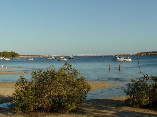 Home exchange in,Australia,Banksia Beach, Bribie Island,Another view of the Bribie Island bridge.