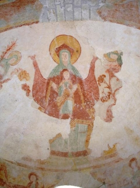 BoligBytte til,France,Palluau sur Indre,Historic fresco in 11th Century Priory