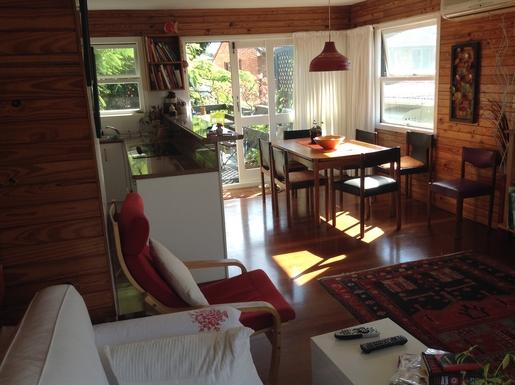 Home exchange in,Australia,MERMAID BEACH,Dining room leading on to deck