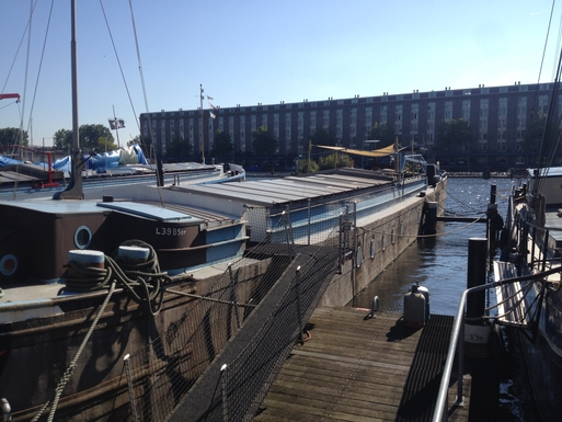 Home exchange in Netherlands,Amsterdam HOUSEBOAT, Noord-Holland,Refurbished Cargoship HOUSEBOAT! 200m2,Home Exchange & House Swap Listing Image