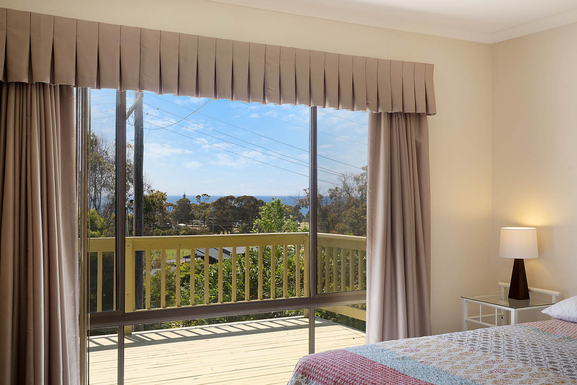 Home exchange in,Australia,Pambula Beach,View from the master bedroom