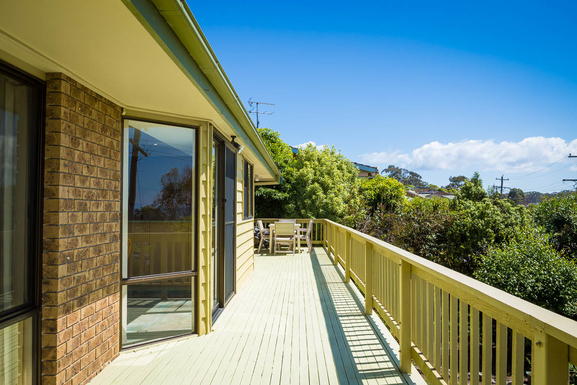 Home exchange in,Australia,Pambula Beach,Across the front deck