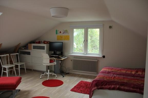 BoligBytte til,Sweden,Hägersten,Our bedroom also works as an office...