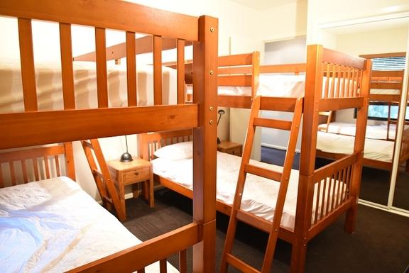 Home exchange in,Australia,Coolum Beach,Third bedroom - 2x2 single bunk beds - 2nd level