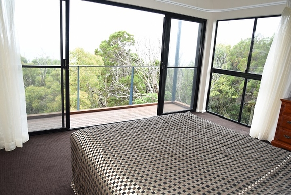 Home exchange in,Australia,Coolum Beach,View from master bedroom and balcony