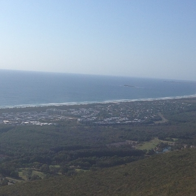 Home exchange in,Australia,Coolum Beach,View from the top of Mt Coolum