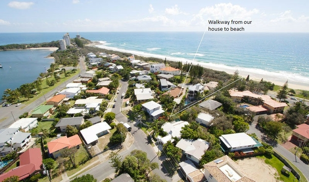 Home exchange in,Australia,BUDDINA,View over Pt Cartwright