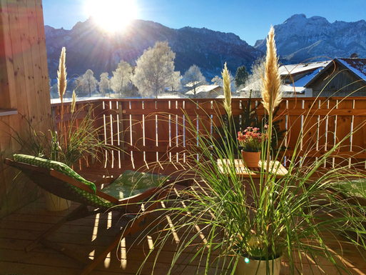 Home exchange in,Germany,Schwangau,view balcony in November