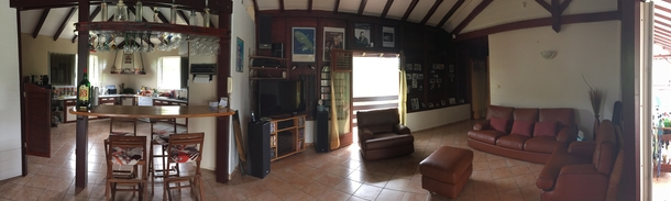 BoligBytte til,Martinique,Diamant, 1km, N,Panoramic view of the living room and the kitchen
