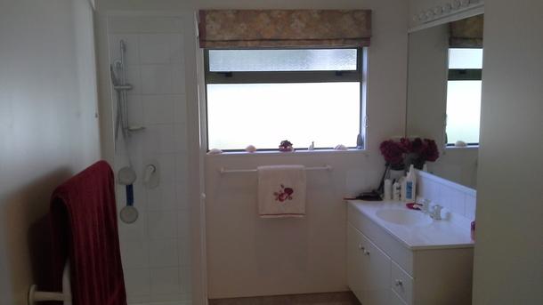 BoligBytte til,New Zealand,Blenheim,Downstairs bathroom with shower & bath. Heater.