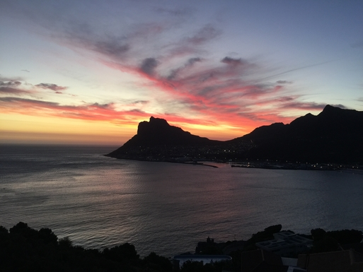 BoligBytte til,South Africa,Cape Town,Sunset from the terrace