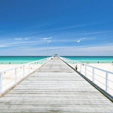 Home exchange in,Australia,DAW PARK,jetty at Grange beach