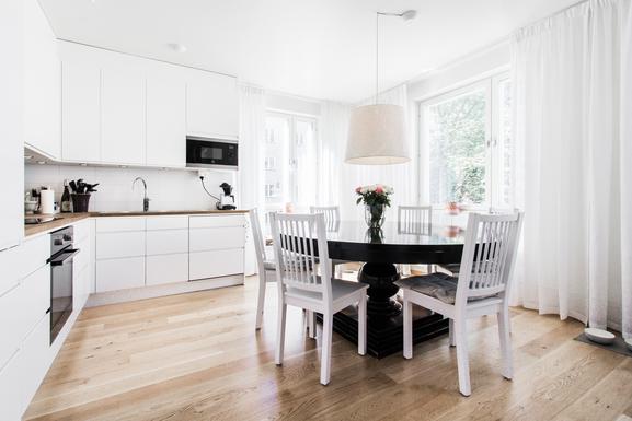 BoligBytte til,Sweden,Stockholm,Kitchen seats up to 10 people