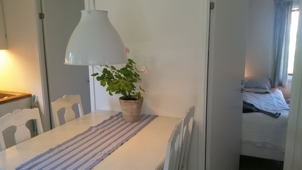 BoligBytte til,Sweden,Stockholm,Kitchen and opening to the 2 bedrooms