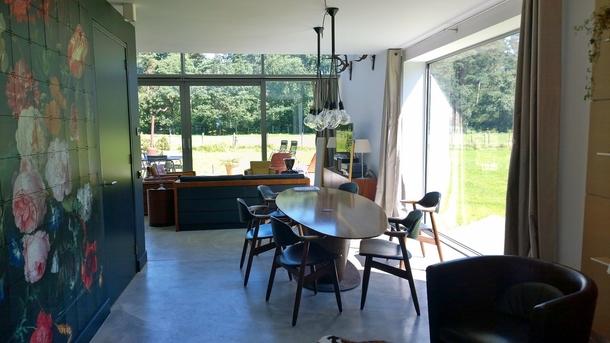 BoligBytte til,Netherlands,Austerlitz , 60km SE of Amsterdam,Dining room on meadow side