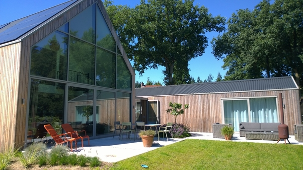 BoligBytte til,Netherlands,Austerlitz , 60km SE of Amsterdam,Terraces At the back of the house and art studio