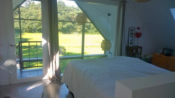 BoligBytte til,Netherlands,Austerlitz , 60km SE of Amsterdam,Master bedroom overlooking meadow and forest