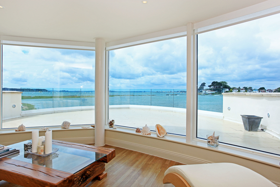 Home exchange in,United Kingdom,POOLE,Across Poole harbour,Browmsea Island on the Left .