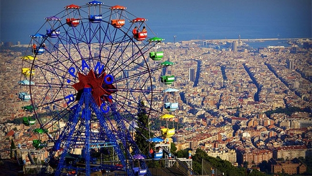 View from Tibidabo - The magic mountain