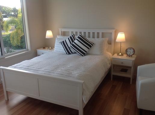 Home exchange in,Australia,Hervey Bay,Upstairs queen bedroom with own bathroom