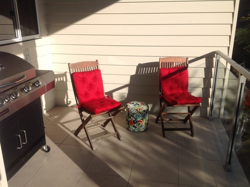 Home exchange in,Australia,Hervey Bay,Balcony with barbecue
