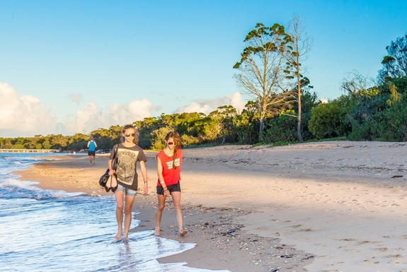 Home exchange in,Australia,Hervey Bay,Our beach! Across the road from our door.