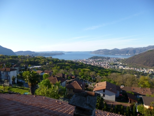 View of Lake Maggiore from balcony