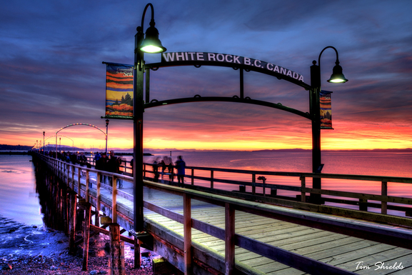 White Rock Pier-1/2 KM in length into the Pacific