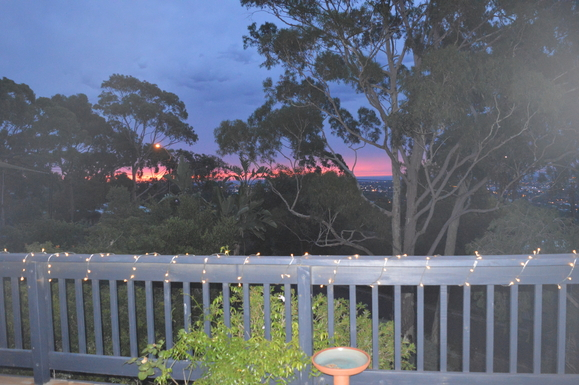 Home exchange in,Australia,LYNTON,New Year sunset from the front deck
